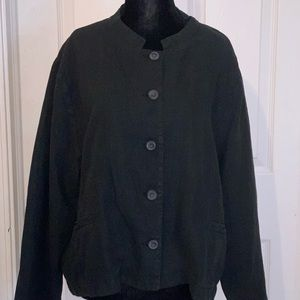 Poetry Jackets & Coats - Poetry Short Jacket XL linen in washed black